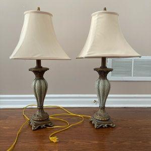 Antique berman table lamps
